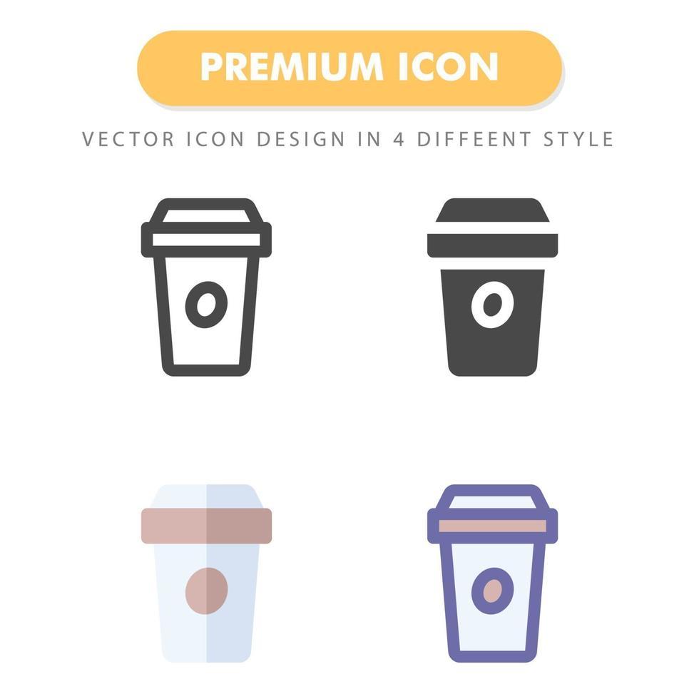 pack d'icônes de café isolé sur fond blanc. pour la conception de votre site Web, logo, application, interface utilisateur. illustration graphique vectorielle et trait modifiable. eps 10. vecteur