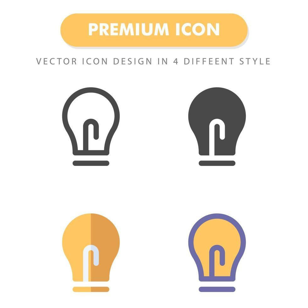 pack d'icônes idée isolé sur fond blanc vecteur