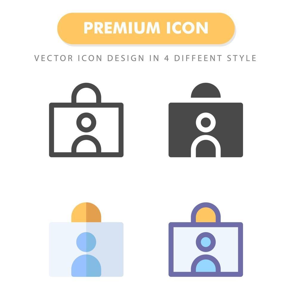 pack d'icônes de carte d'identité isolé sur fond blanc. pour la conception de votre site Web, logo, application, interface utilisateur. illustration graphique vectorielle et trait modifiable. eps 10. vecteur