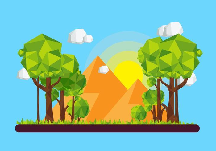Forêt Low Poly vecteur