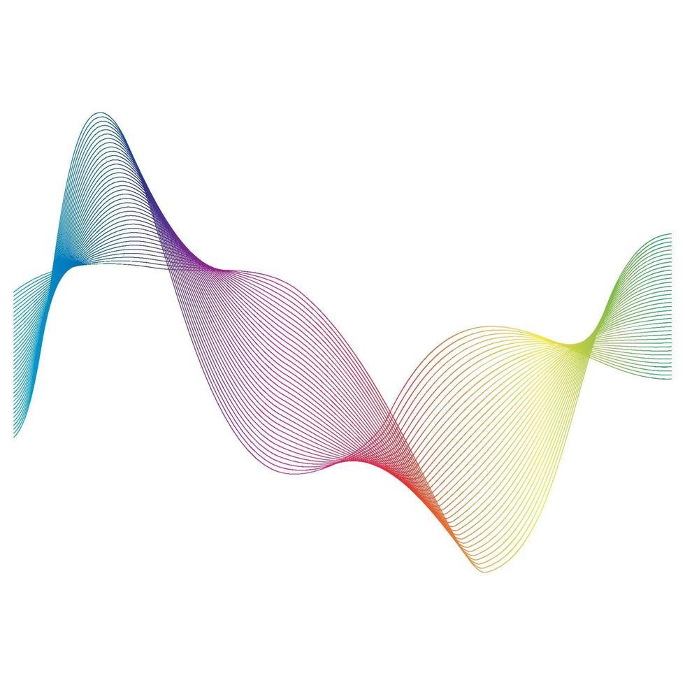 conception d'illustration vectorielle ligne ondes sonores vecteur