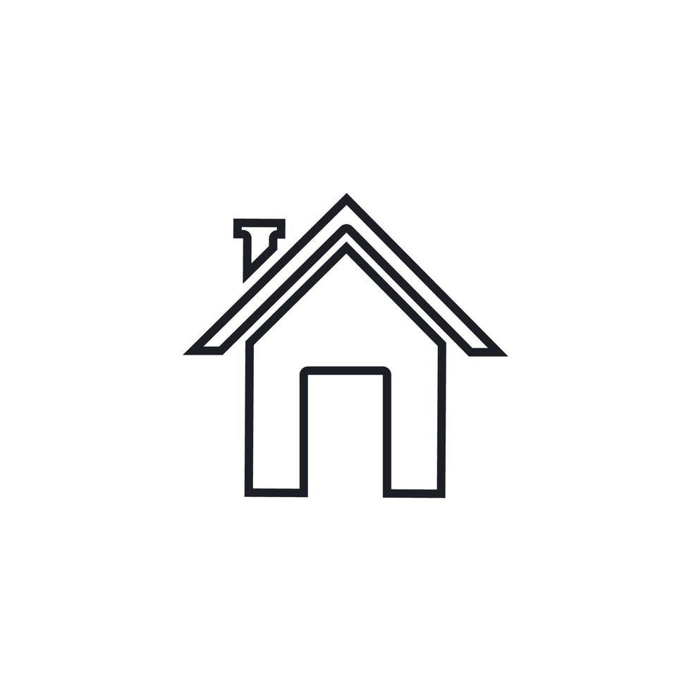 création de logo de propriété et de construction vecteur