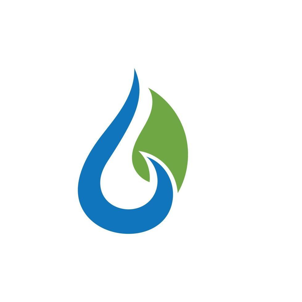 vecteur de logo nature eau et feuille