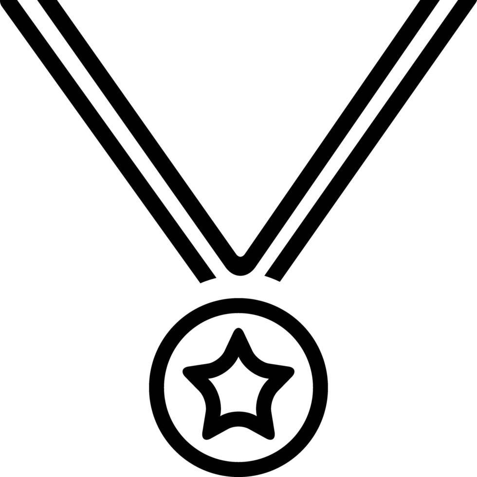 icône de ligne pour achivement vecteur