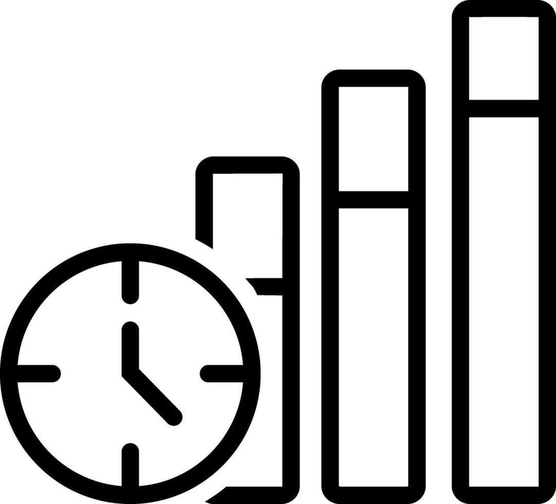 icône de ligne pour la productivité vecteur