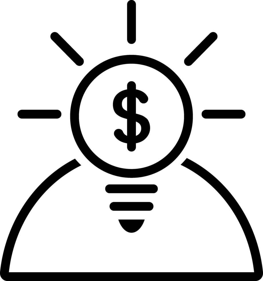 icône de ligne pour les opportunités vecteur