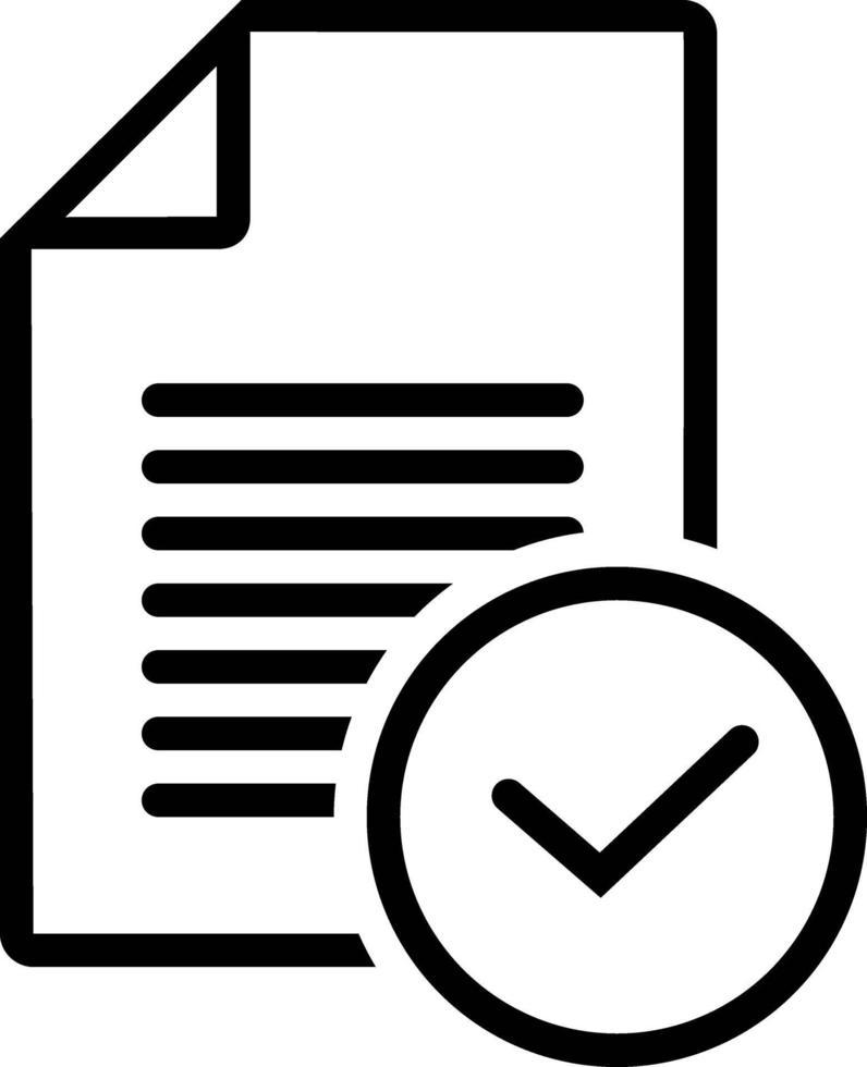 icône de ligne pour la tâche vecteur