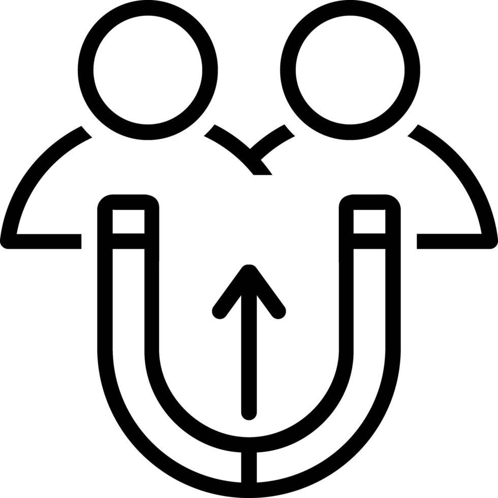 icône de ligne pour attirer vecteur