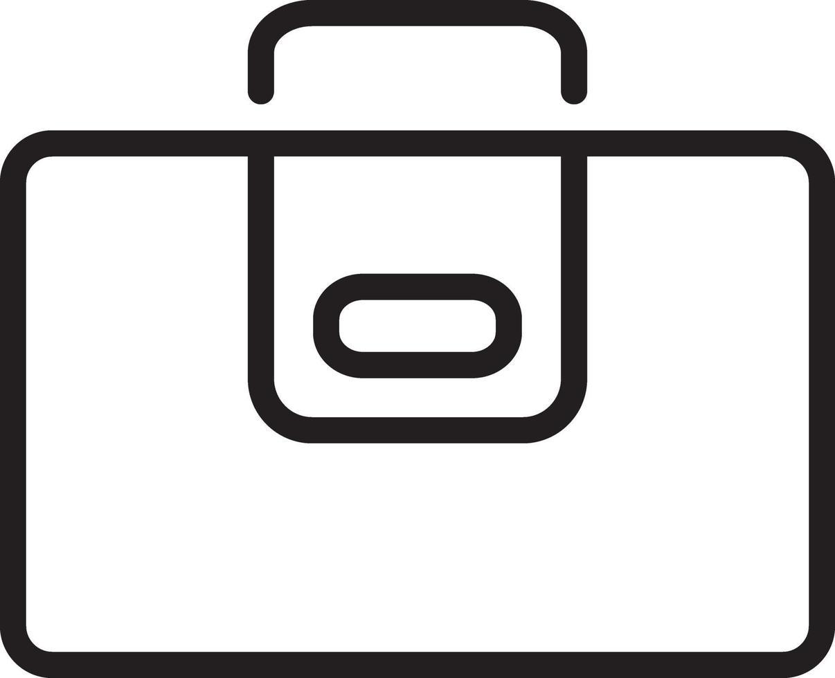 icône de ligne pour portefeuille vecteur
