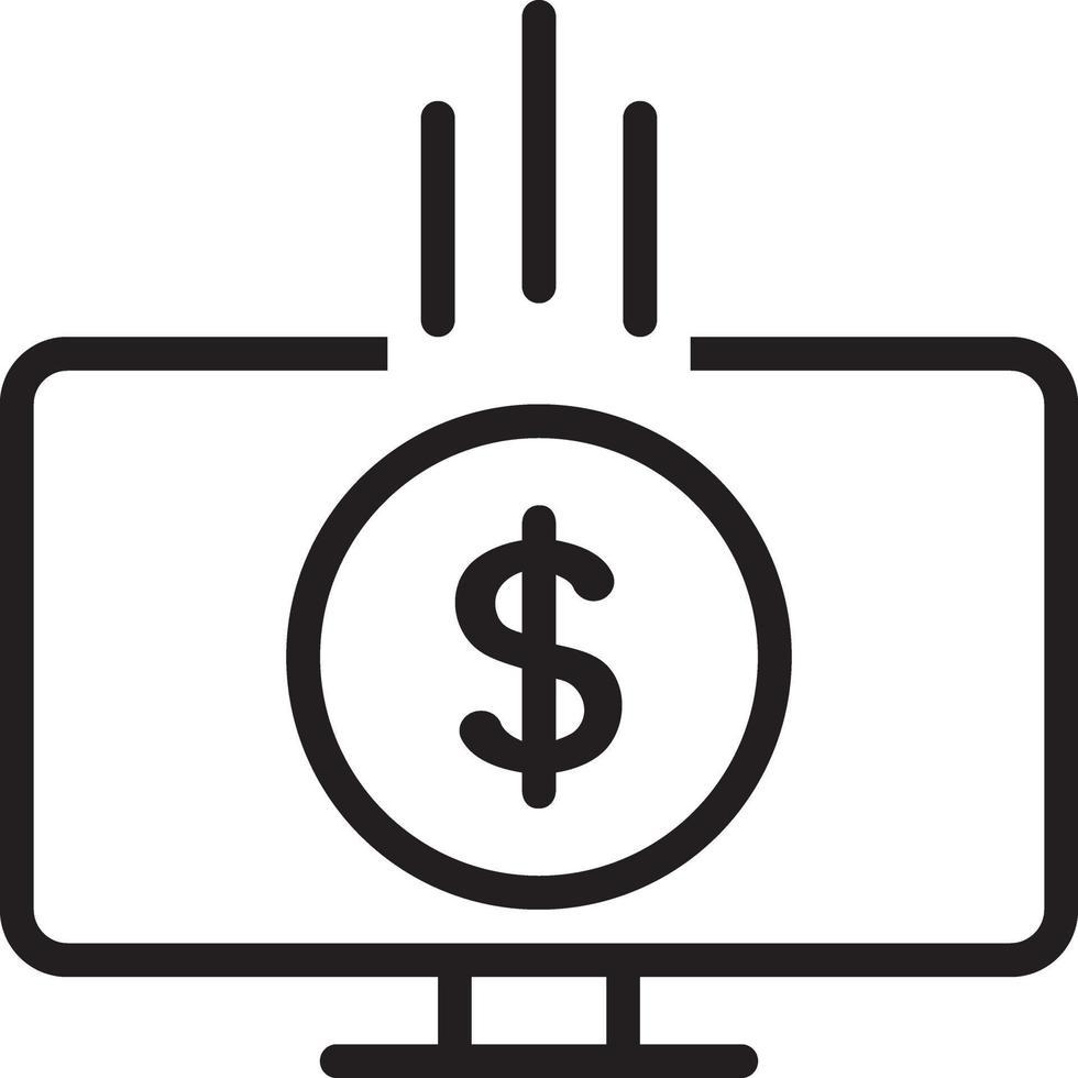 icône de ligne pour la monétisation vecteur