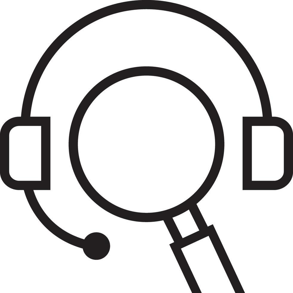 icône de ligne pour seo vecteur
