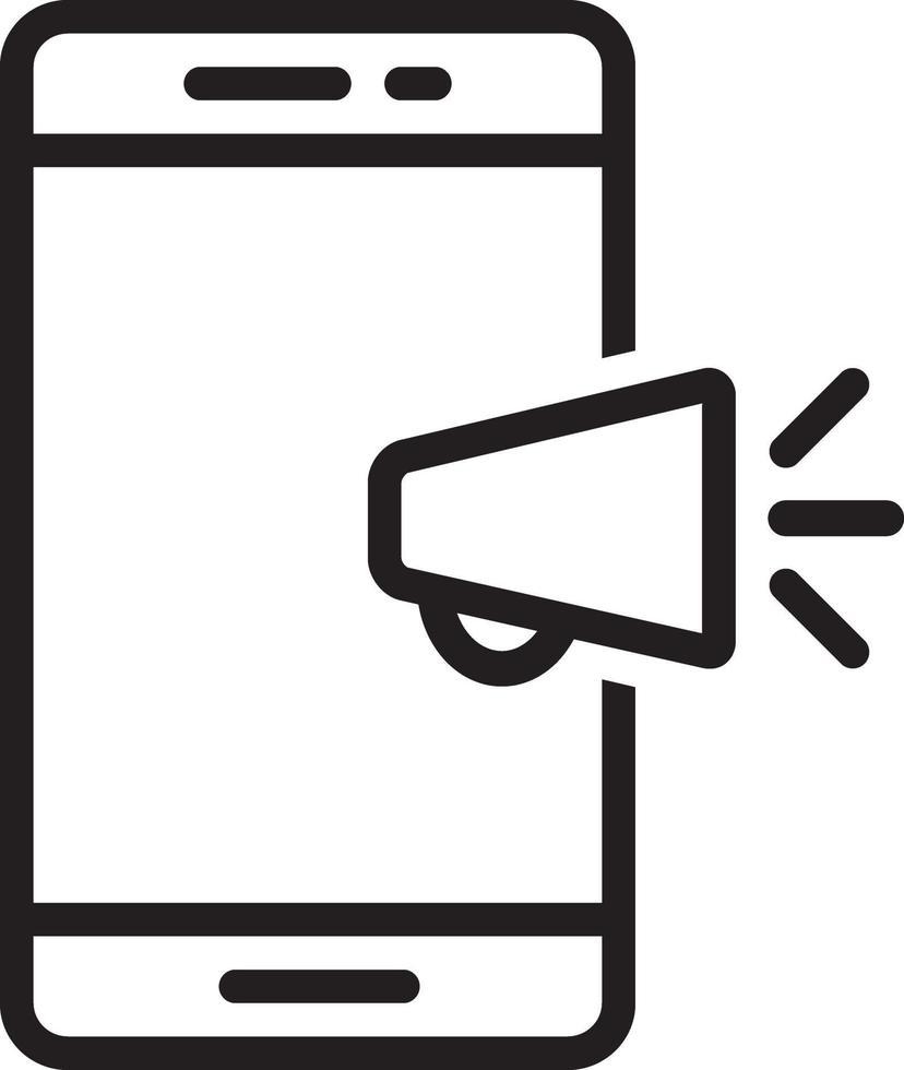 icône de ligne pour mobile vecteur