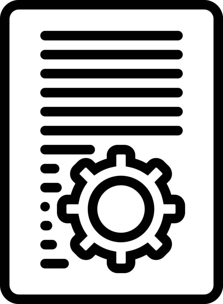 icône de ligne pour document vecteur