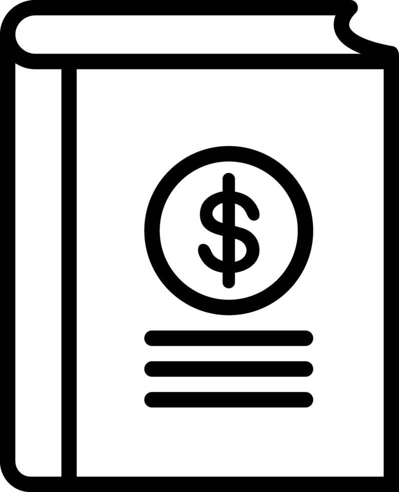 icône de ligne pour les comptes vecteur