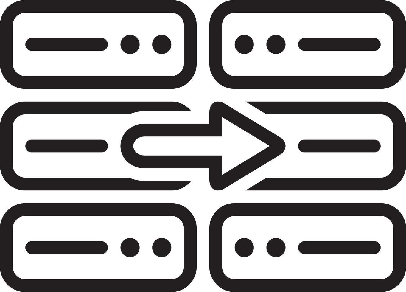 icône de ligne pour copie vecteur