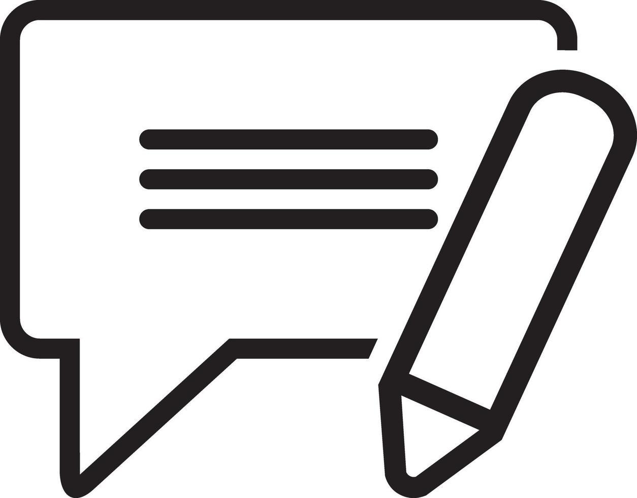 icône de ligne pour sms vecteur