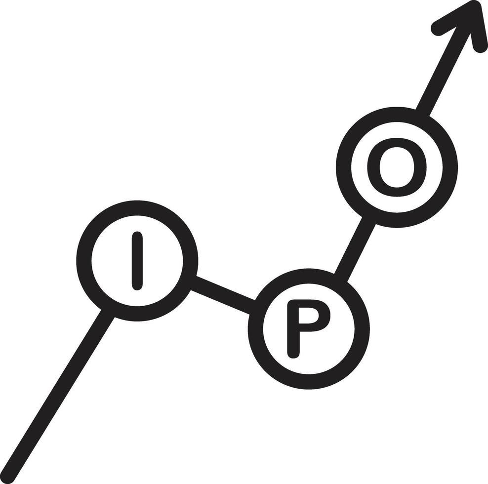 icône de ligne pour ipo vecteur