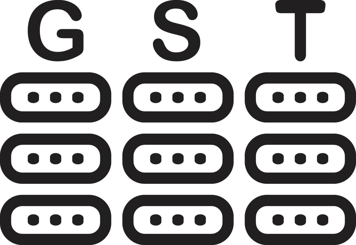 icône de ligne pour gst vecteur