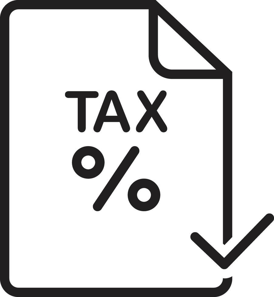icône de la ligne pour la taxe vecteur