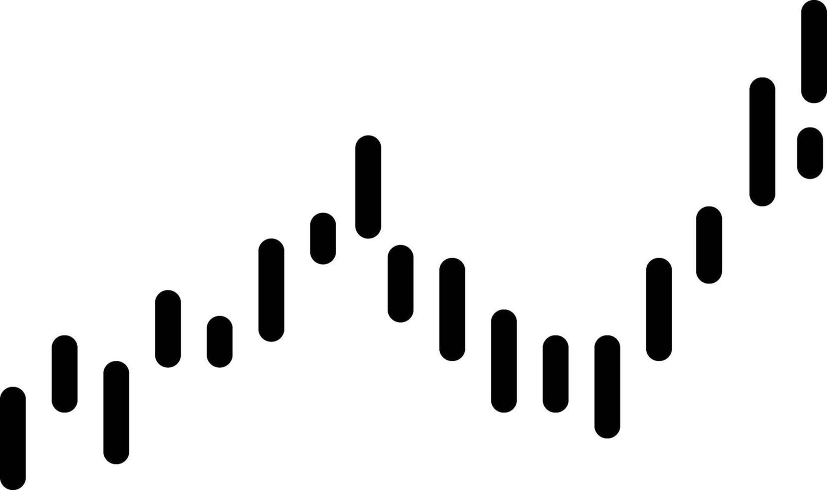 icône de ligne pour bougie vecteur