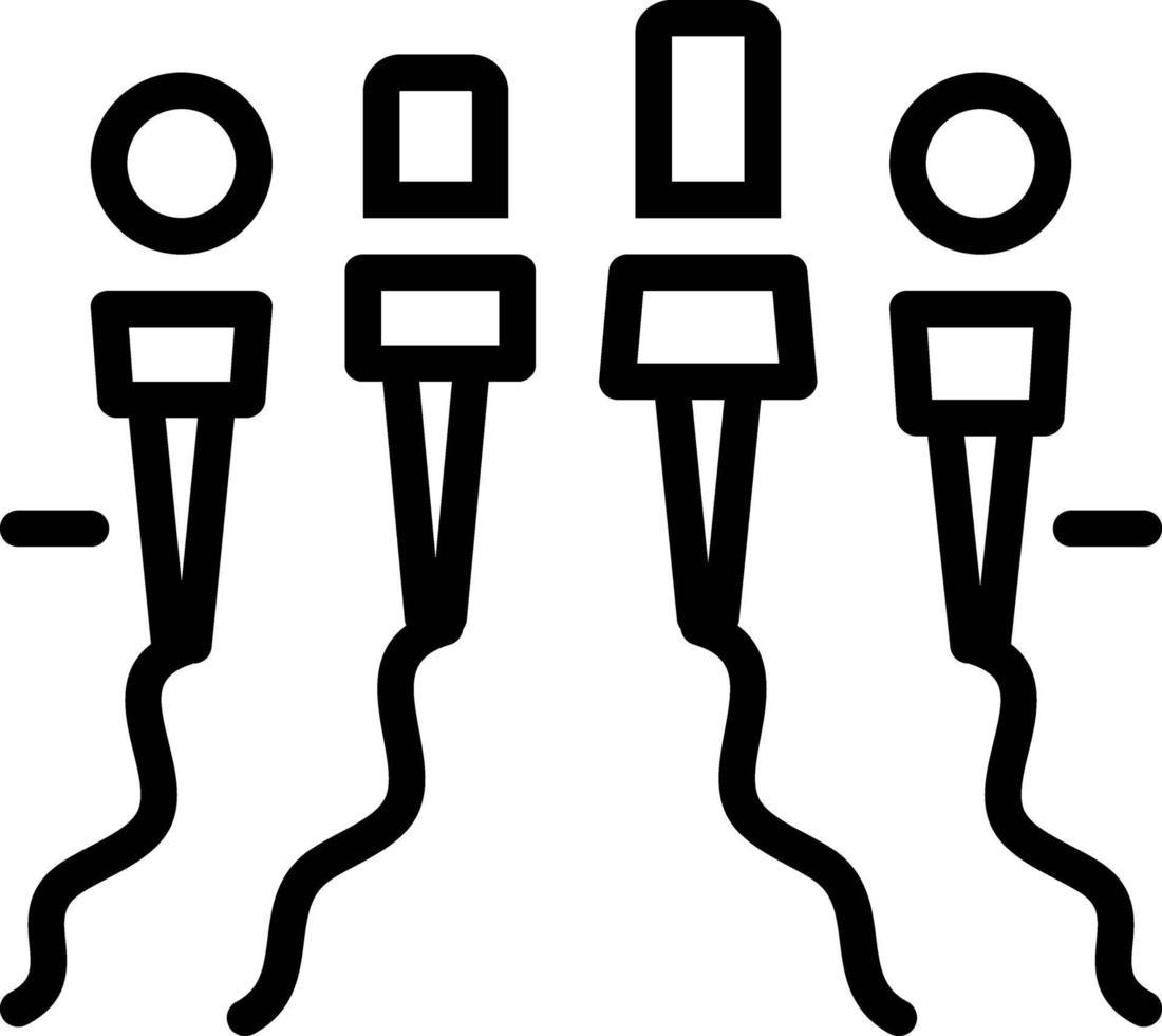 icône de ligne pour presse vecteur