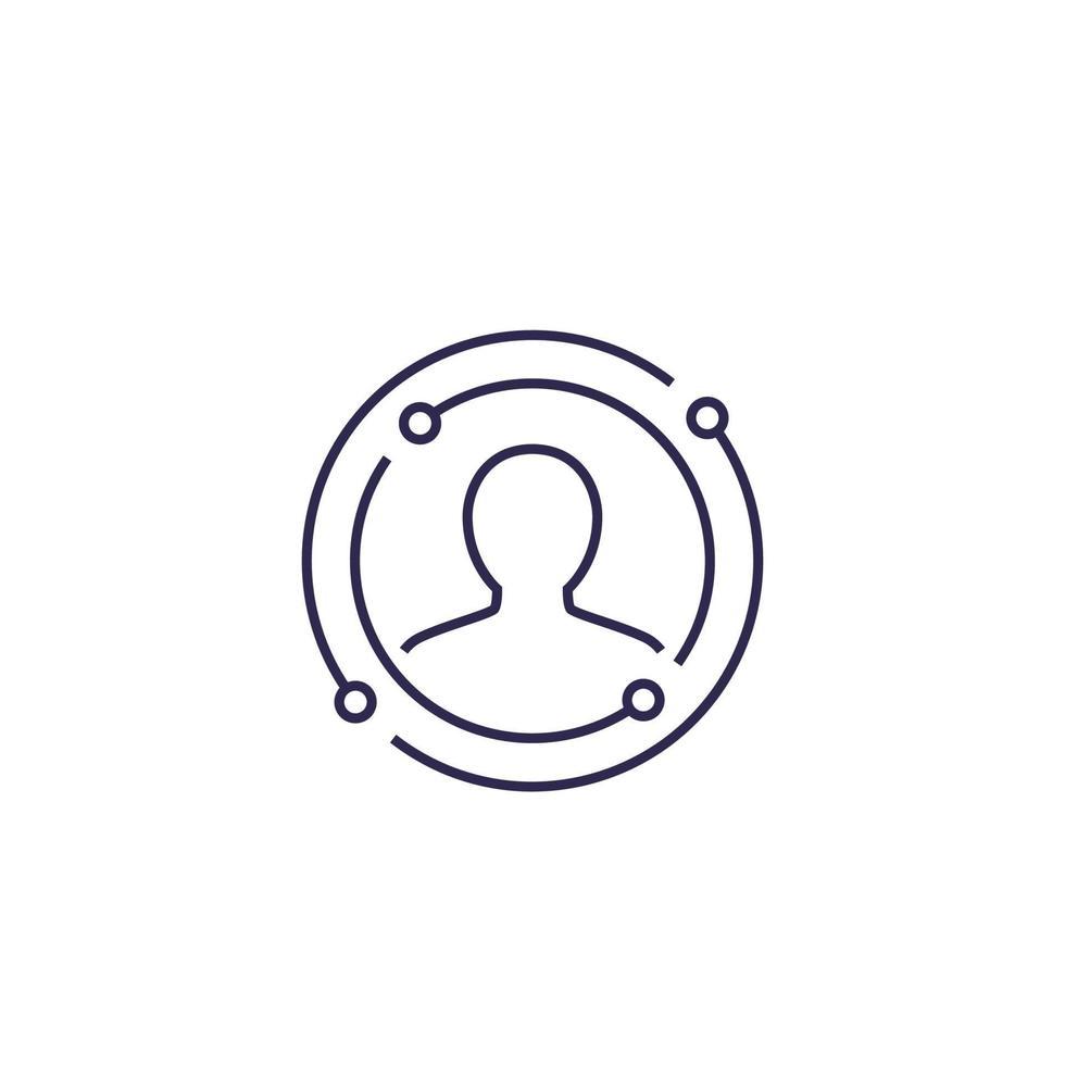 icône de vecteur d & # 39; expérience utilisateur