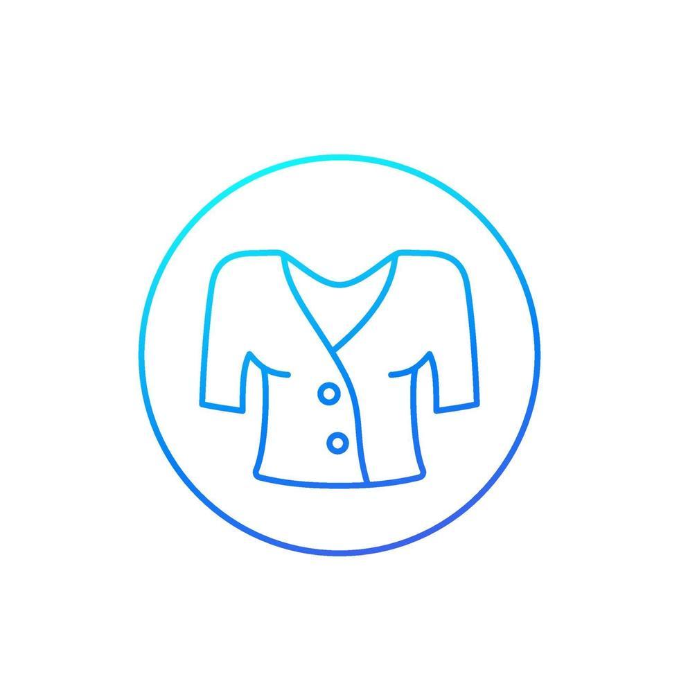 icône de vecteur de chemisier, linéaire