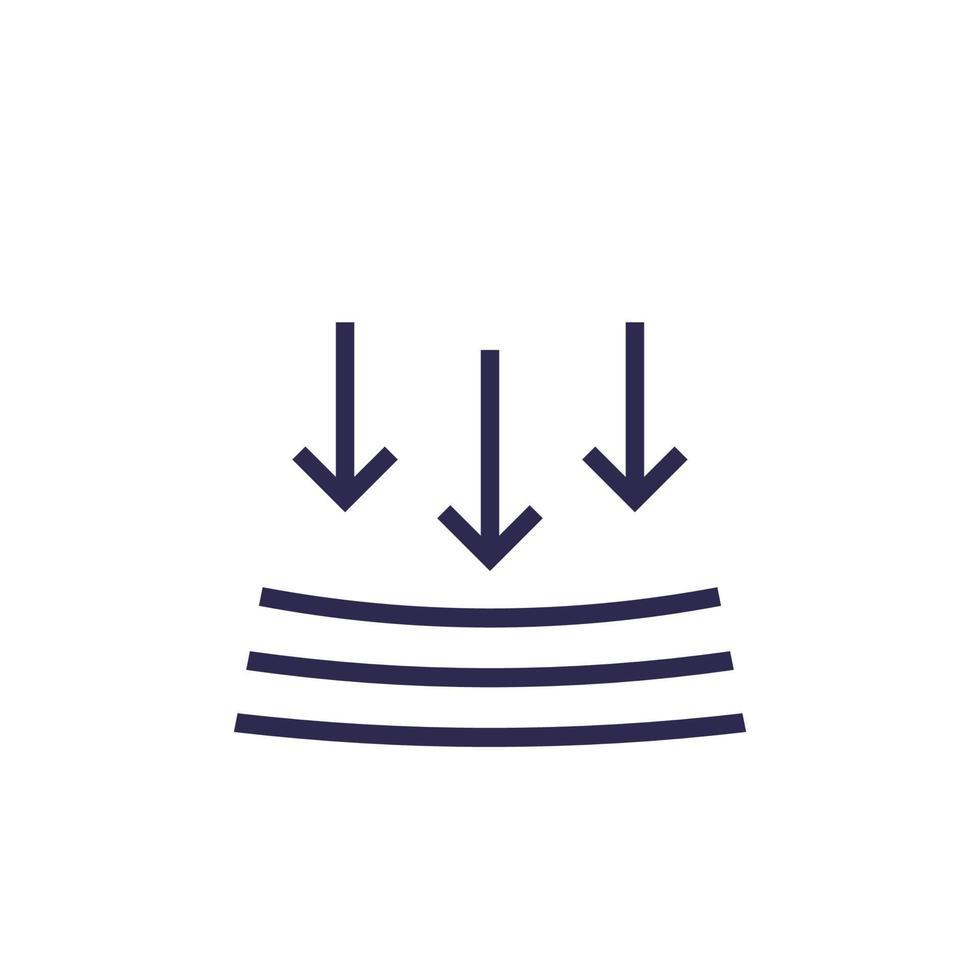 résistance à la pression, signe vectoriel