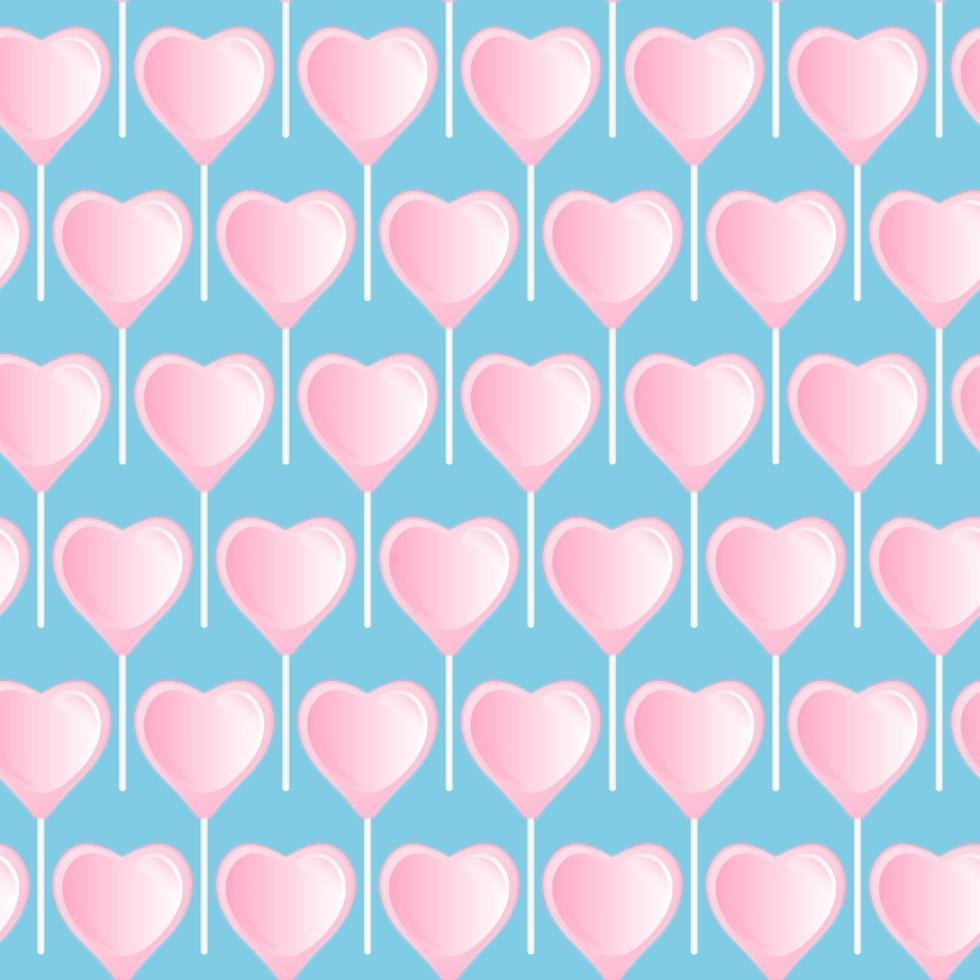 sucette coeur rose. motif doux sans soudure. vecteur