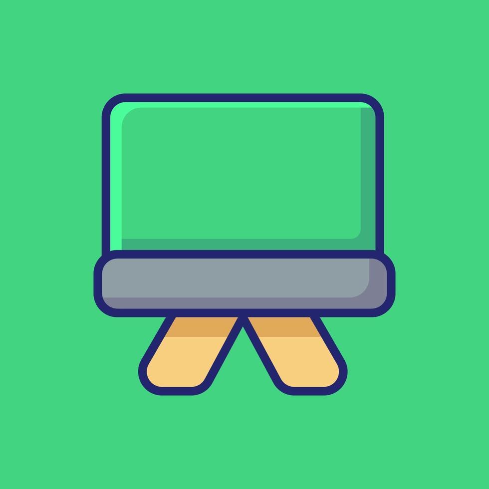 illustration d'icône de vecteur de tableau noir. style de dessin animé plat adapté à la page de destination Web, bannière, autocollant, arrière-plan.