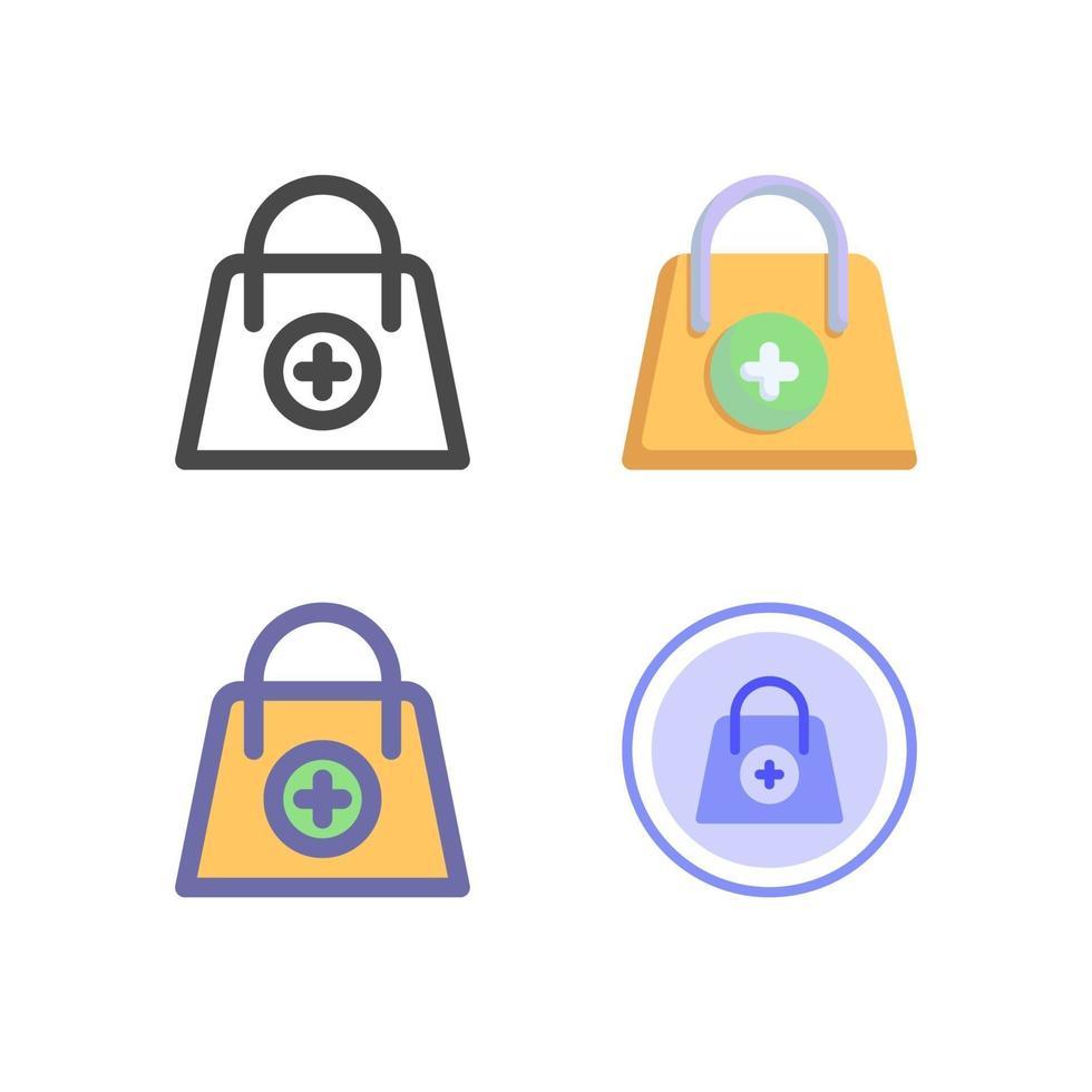 pack d'icônes de sac isolé sur fond blanc. pour la conception de votre site Web, logo, application, interface utilisateur. illustration graphique vectorielle et trait modifiable. eps 10. vecteur