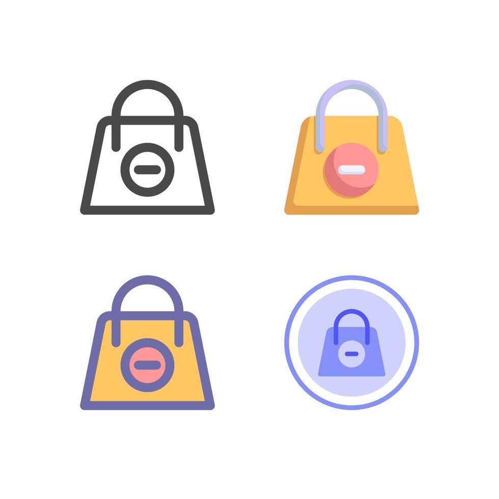 pack d'icônes de sac à provisions isolé sur fond blanc. pour la conception de votre site Web, logo, application, interface utilisateur. illustration graphique vectorielle et trait modifiable. eps 10. vecteur