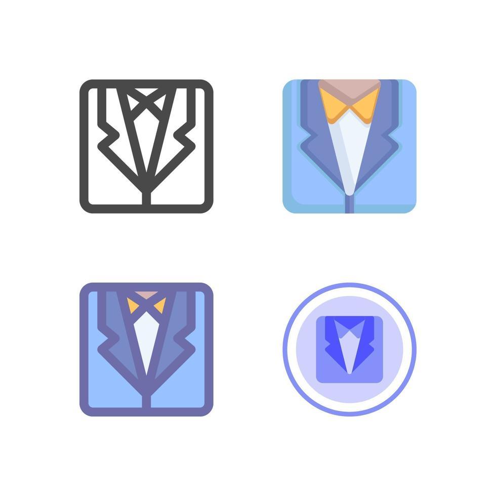 pack d'icônes de costume isolé sur fond blanc. pour la conception de votre site Web, logo, application, interface utilisateur. illustration graphique vectorielle et trait modifiable. eps 10. vecteur