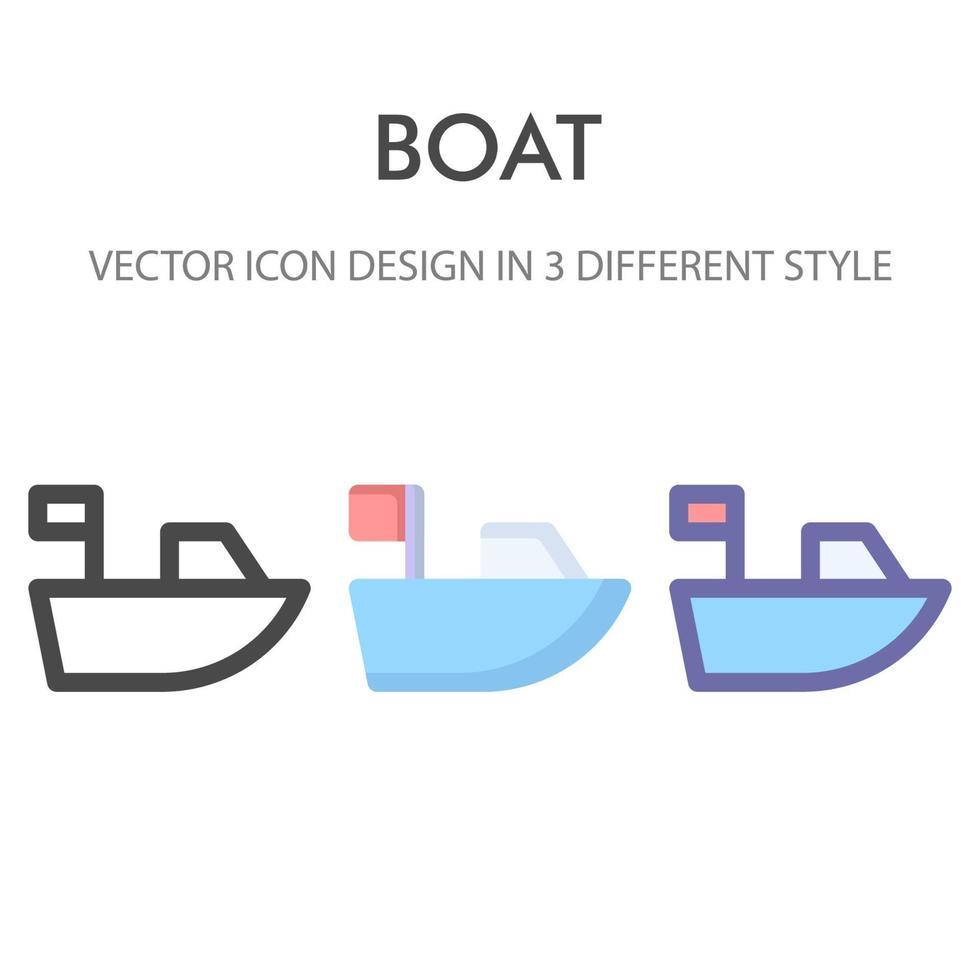 pack d'icônes de voilier isolé sur fond blanc. pour la conception de votre site Web, logo, application, interface utilisateur. illustration graphique vectorielle et trait modifiable. eps 10. vecteur