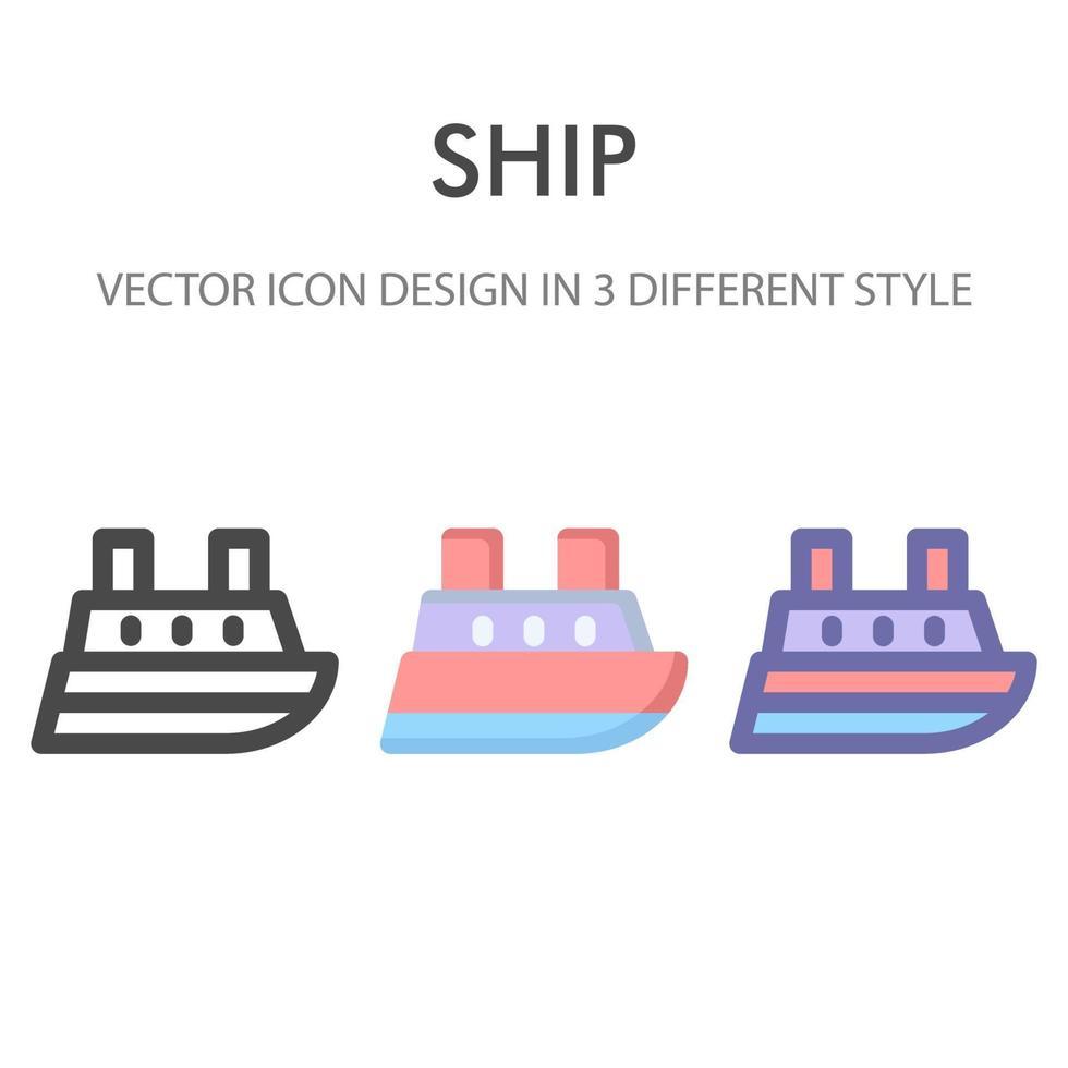 pack d'icônes de navire isolé sur fond blanc. pour la conception de votre site Web, logo, application, interface utilisateur. illustration graphique vectorielle et trait modifiable. eps 10. vecteur
