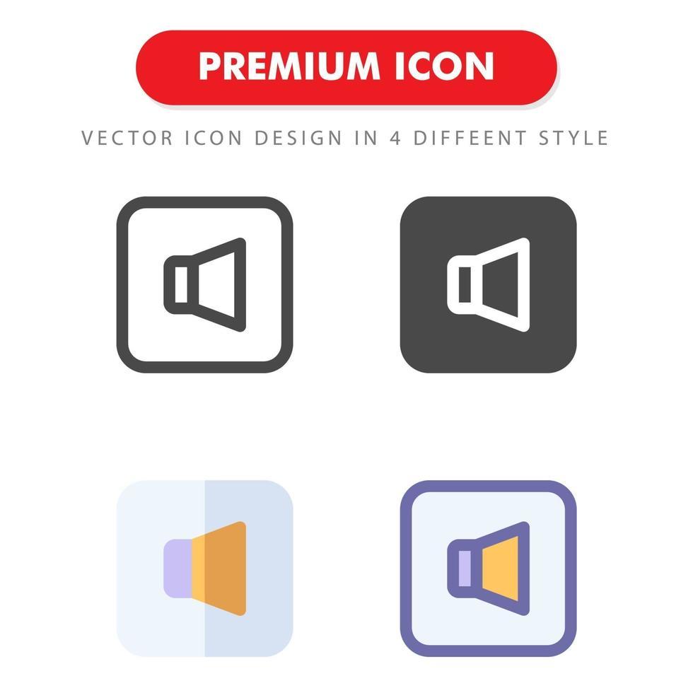 pack d'icônes sonores isolé sur fond blanc. pour la conception de votre site Web, logo, application, interface utilisateur. illustration graphique vectorielle et trait modifiable. eps 10. vecteur