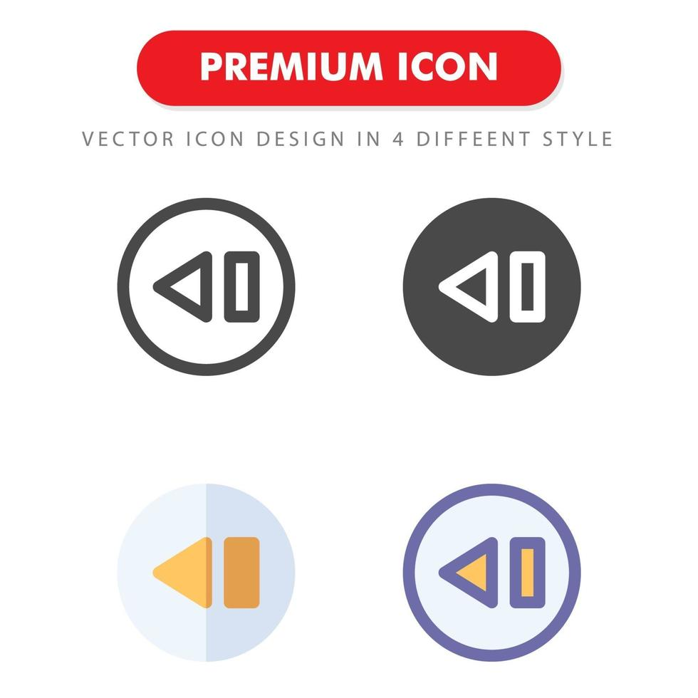 pack d'icônes précédent isolé sur fond blanc. pour la conception de votre site Web, logo, application, interface utilisateur. illustration graphique vectorielle et trait modifiable. eps 10. vecteur