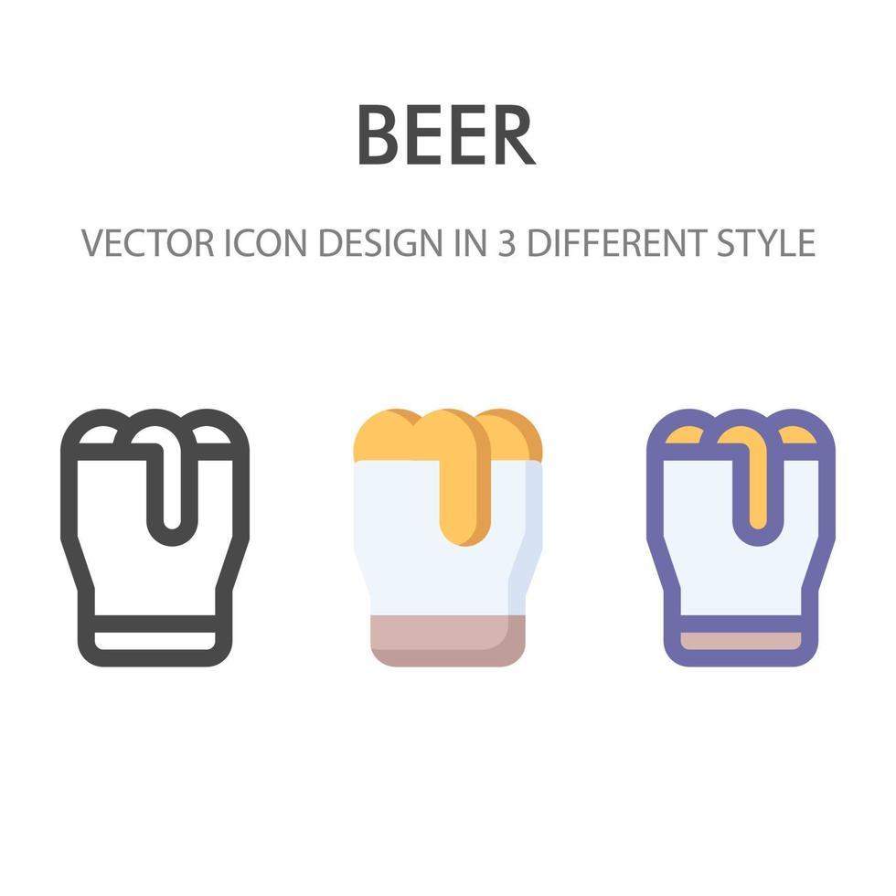 pack d'icônes de bière isolé sur fond blanc. pour la conception de votre site Web, logo, application, interface utilisateur. illustration graphique vectorielle et trait modifiable. eps 10. vecteur