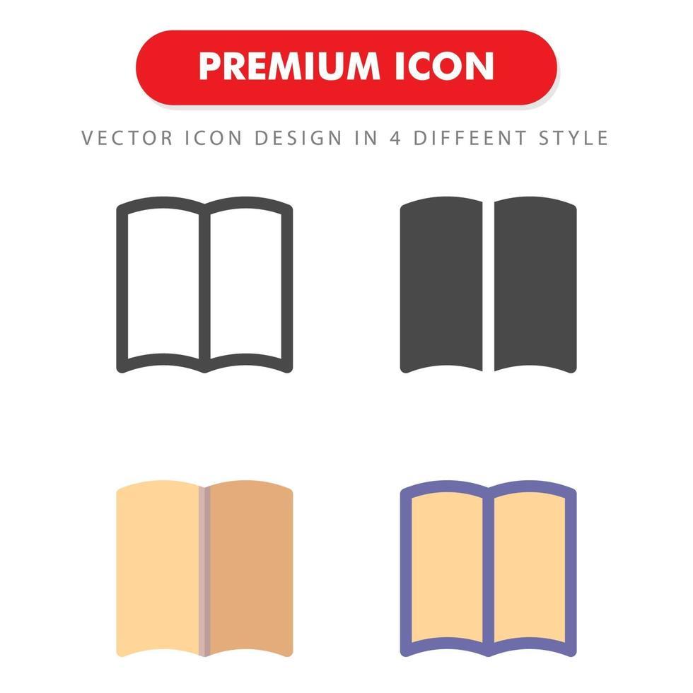 pack d'icônes de livre isolé sur fond blanc. pour la conception de votre site Web, logo, application, interface utilisateur. illustration graphique vectorielle et trait modifiable. eps 10. vecteur