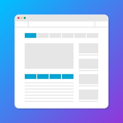Kits Ui de disposition de filaire de site Web pour la conception de carte de site et d'UX vecteur
