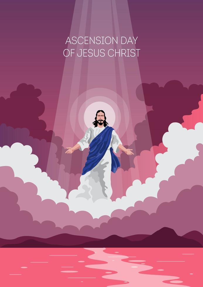 joyeux jour de l'ascension de jésus christ vecteur