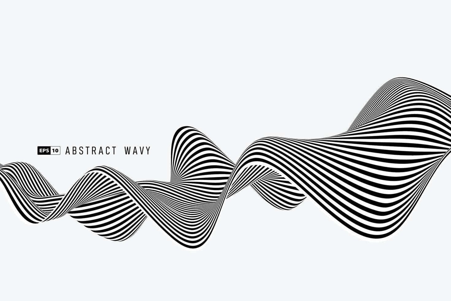ligne abstraite de rayures minimales noir et blanc de fond de décoration en maille. illustration vectorielle eps10 vecteur