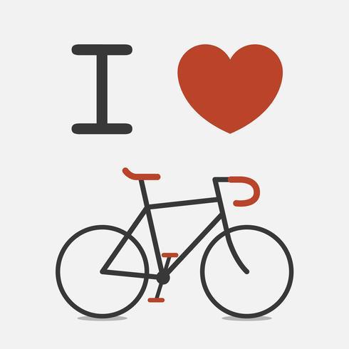 Amour vélo vecteur
