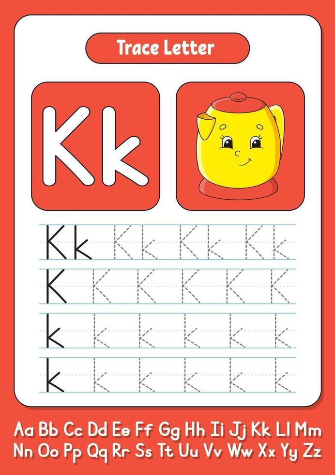 écrire des lettres k vecteur
