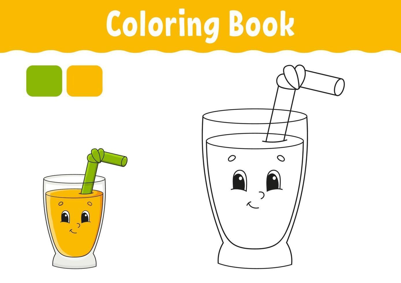 livre de coloriage avec de la limonade vecteur