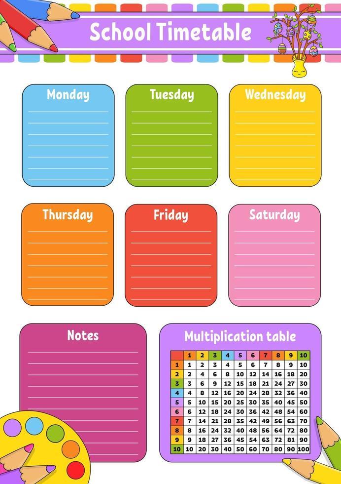 calendrier scolaire de pâques vecteur
