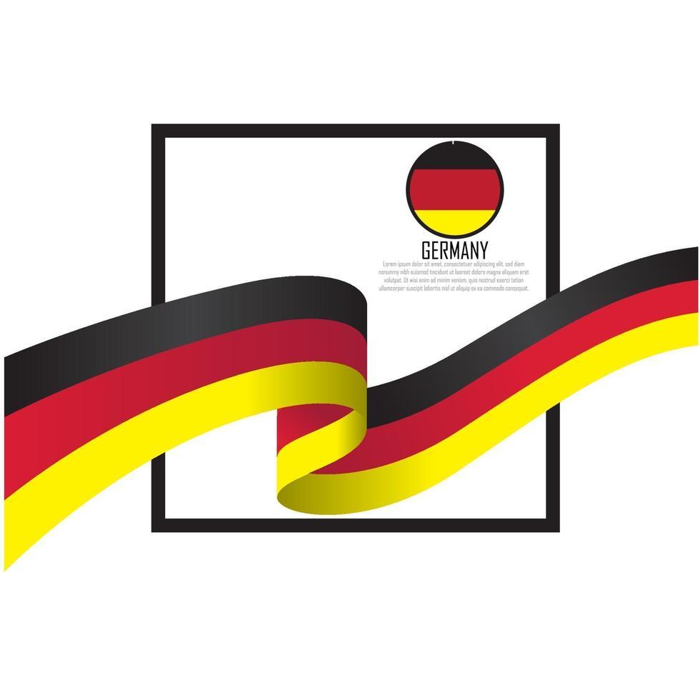 illustration vectorielle de drapeau allemagne vecteur