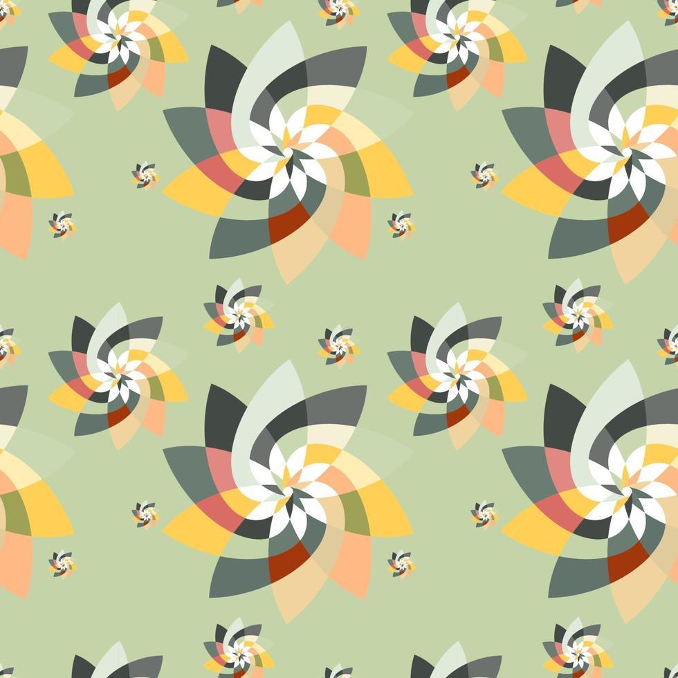 motif de dispersion floral graphique fond automne vecteur