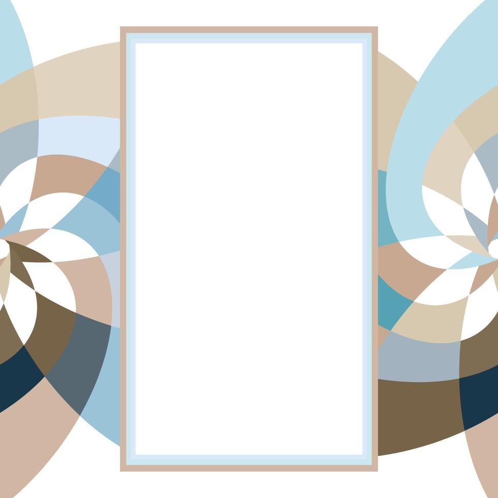 modèle de rectangle de fleur graphique avec espace de copie gris marine vecteur