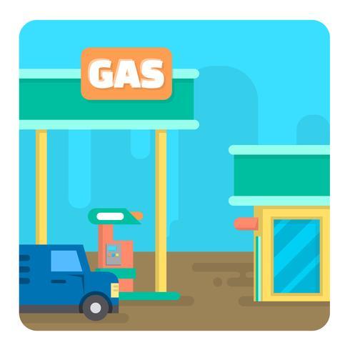 Station-essence vecteur